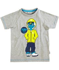 Name It Grijze Zomer T-shirt Met Funky Dino en Skelet. name-it.nl.emilea.be