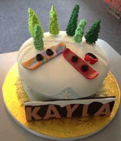 Snowboarding Mountain Cake