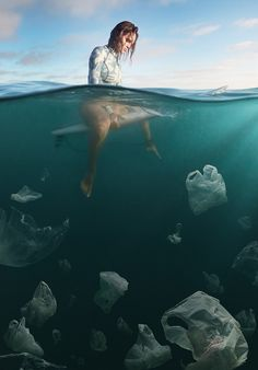 A project that mixes it up with art direction & digital photography by Weston Fuller. A series entitled: Plastic Surf about the growing pollution of plastic Ocean Pollution, Plastic Pollution, Save Our Earth, Save The Planet, Wind Surf, Save Our Oceans, Environmental Issues, Environmental Pollution, Digital Photography