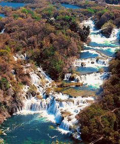 Krka river waterfalls, Croatia: