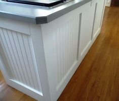 Learn how to install beadboard with these DIY projects! Whether you want a beadboard wainscoting in the dining room, or an amazing DIY kitchen backsplash, some farmhouse modern elements or some classical elegance, this is the stuff. Ikea Kitchen, Kitchen Redo, Kitchen Ideas, Kitchen Cabinets, Soapstone Kitchen, Kitchen Furniture, Kitchen Countertops, Farmhouse Cabinets, Primitive Furniture