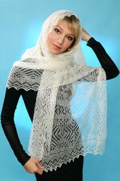Пуховый палантин (шарф) 200х70 см магазин Orenpyh.ru