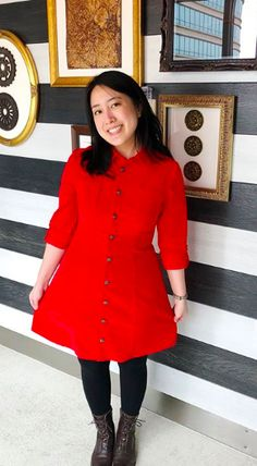 Joy's Rosa Shirt Dress - Sewing pattern by Tilly and the Buttons Sewing Ideas, Sewing Patterns, Shirt Dress Pattern, Tilly And The Buttons, How To Get Warm, Dress Sewing, Dressmaking, Coat, How To Wear