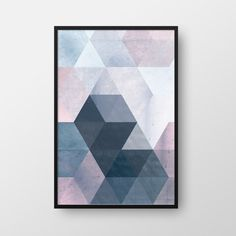 *** Printable Geometric Poster, Scandinavian Print, Nordic Poster, Modern Geometric Poster, Triangle Print, Blue Print, Modern Wall Art *** This item is an INSTANT DOWNLOAD. No physical item will be sent or mailed. You will receive 3 files: 1 .JPG file 24 x 36 / 60 x 90 cm 1 .PDF file 24 x 36 / 60 x 90 cm 1 .PDF file 24 x 36 / 60 x 90 cm with trim marks *If you require any different size, please contact me and I am happy to help you for no extra charge! *These are high res...