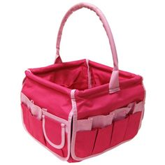 Neatnix Square Stuff Bucket Pink with Pink Trim for students living in dorm rooms or apartments at college or boarding school, on campus or off.