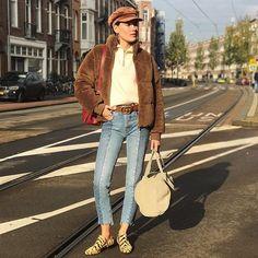 """Polubienia: 566, komentarze: 8 – STINE GOYA   Fashion & Design (@stinegoyastudio) na Instagramie: """" @veravanerp wearing our Aria jacket #goyapeople #stinegoya #aw17 #teddy #instoresnow"""""""