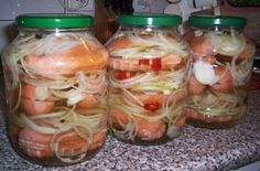 Lahůdkové utopence Mason Jars, The Cure, Appetizers, Canning, Dinner, Recipes, Preserve, Food Ideas, Dining
