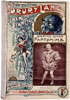 Pantomime text for 'jack and the Beanstalk' at the Theatre Royal, Drury Lane, London, 1899