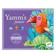 Voici le traditionnel jeu de Yams adapté aux plus petits. A tour de rôle, chaque joueur lance les 5 dés illustrés par des animaux. Il a 3 lancers pour réaliser une combinaison qui lui permettra de gagner un jeton à déposer sur sa carte. Le premier joueur réussissant à aligner 3 jetons a gagné la partie. Et l'enfant qui parvient à faire un yams, soit 5 animaux identiques, remporte immédiatement la partie.