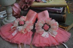Pink satin cuffs