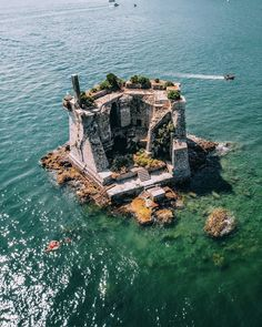 Cinque Terre Italy island house Is it a castle or a house? Whatever it is we'd love to spend a week on this private island in Cinque Terre Italy… guessing we can't afford it though so Glamping it is! Places Around The World, Oh The Places You'll Go, Places To Travel, Places To Visit, Travel Destinations, Travel Tips, Travel Hacks, Budget Travel, Amazing Destinations