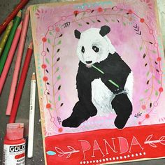 A little baby in my life has decided to be a somewhat better napper today, so I got to paint for a while in the daytime! Victory in our time! Today's animal is Panda. Panda is quiet and modest. Strong yet flexible. Humble, happy, and focused. Peace, good luck, positivity, and gentleness. How nice, right? #dailyanimalart #dailyswiftpics #panda #pandaart #animalmedicine #paintingaday