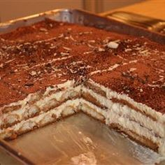 "Classic Tiramisu | ""Classic Italian dessert made with ladyfingers and mascarpone cheese. It can be made in a trifle bowl or a springform pan."""