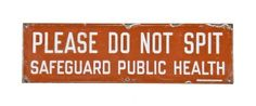 NYC Subway Enamel Sign C1920s