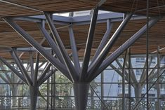 Image 8 of 29 from gallery of Casa-Port Railway Station / AREP + Architectes. Photograph by Didier Boy de La Tour Roof Structure, Shade Structure, Building Structure, Steel Structure, Architecture Panel, Green Architecture, School Architecture, Architecture Details, Bridge Design