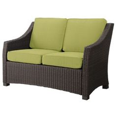 Belvedere Wicker Patio Loveseat   Threshold™
