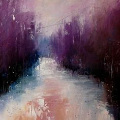 A gorgeous abstract landscape painting by Erica Kirkpatrick.