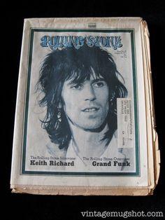Original Rolling Stone Magazine 1971 Issue 89 Keith Richards Rolling Stones Link Wray on Etsy, $18.00