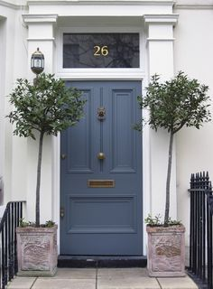 blue/gray door color for all white trim option (high gloss paint ...
