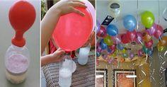 Mira el truco japonés para inflar globos SIN helio y sin máquina. - Por qué no se me ocurrió antes