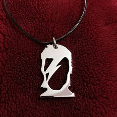 David Bowie Ziggy Stardust Necklace, Aluminum and Leather, All Handmade