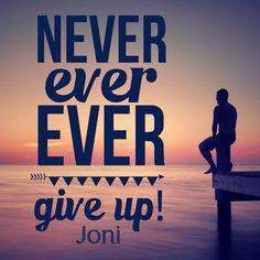Never ever ever give up! [Daystar.com]