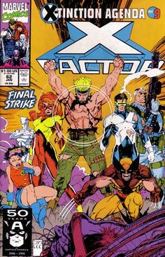 X-Factor # 62 Marvel Comics Vol. Marvel Comics, Hq Marvel, Marvel Comic Books, Comic Book Characters, Marvel Characters, Comic Character, Comic Books Art, Comic Superheroes, Book Cover Art