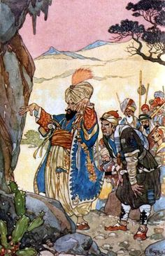 Arabian Nights, 1912 -- Rene Bull, 1872-1942