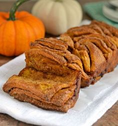 Pumpkin Pull Apart Bread with Brown Butter