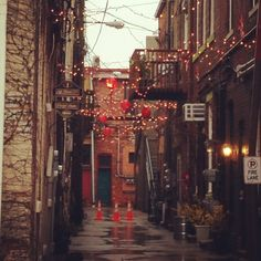 One of our alleyways, downtown. Love!
