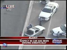 Texas High Speed Police Chase On Houston Freeways (Fox News)