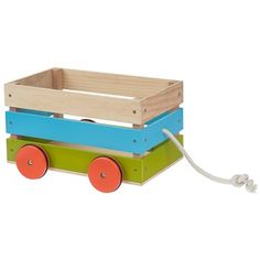 Carrito Madera Mi Jardín / wooden cart for little gardeners Wooden Diy, Wooden Cart, Woodworking For Kids, Homemade Toys, Wood Toys, Diy Wood Projects, Toy Boxes, Baby Decor, Diy Toys