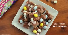 This Easy 4-ingredient Easter Fudge is a scrumptious way to welcome Spring, only takes 4 ingredients and 5 minutes to make.
