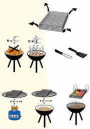 Muurikka grill panier Räucherkorb Fine & Grill, kleinmaschiger grill.