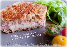 Croque-Monsieur - Der französische bekannte Toastbrot-Sandwich - Mit Geschichte! #frankreich #franzoesisch #rezept #sandwich #toast #schinken #kaese