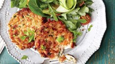 You probably have most of the ingredients on hand for these simple, elegant crab cakes; just make a quick run to the seafood market for fresh lump crabmeat. Toss together a bright, seasonal salad while the crab cakes chill.