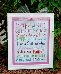 A Pocket full of LDS prints: Baptism