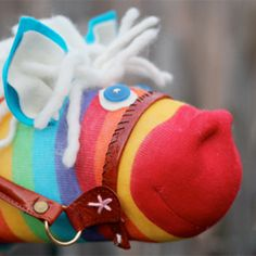 A new take on an old favorite! DIY Hobby Horses from colorful mismatched socks!