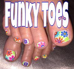 #nailart #funkytoes Toenail Art Designs, Fingernail Designs, Pedicure Designs, Pedicure Nail Art, Toe Nail Art, Acrylic Nail Designs, Pedicure Ideas, Nail Nail, Nail Ideas