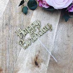 Happy Birthday Cake Topper Topper Cake Decoration Cake Decorating Personalised Cake Toppers Birthday Cake Topper BB Sugar Boo