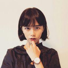 Japanese Short Hair, Asian Short Hair, Short Hair With Bangs, Japanese Hairstyle, Asian Hair, Girl Short Hair, Short Hair Cuts, Korean Short Hair Bangs, Elegant Hairstyles