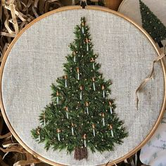 modern christmas tree On the day of Christmas.tebe gave to us a very realistic looking Christmas tree! I would love to have a real Christmas tree but its not really a thing here in Australia! 11th Day Of Christmas, Real Christmas Tree, Modern Christmas, Christmas Crafts, Hand Embroidery Art, Embroidery Supplies, Cross Stitch Embroidery, Embroidery Patterns, Christmas Embroidery