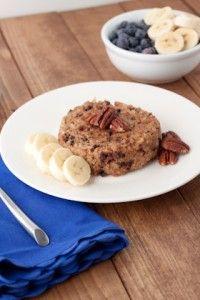 5 Minute Banana Chocolate Chip Quinoa Flake Bake #quinoaflake #breakfastcake