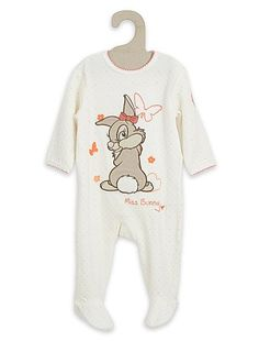 738457cd56b62 Pyjama velours  Disney  blanc Bébé fille Pyjama ...