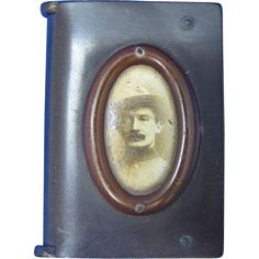 Baden Powell, book-shaped match safe, vulcanite, c. 1907, Boy Scouts