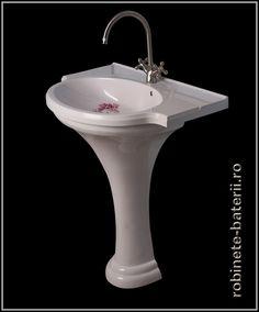 Lavoar cu picior Savona din compozit marmura Sink, Muhammad, Green, House, Home Decor, Sink Tops, Vessel Sink, Decoration Home, Room Decor