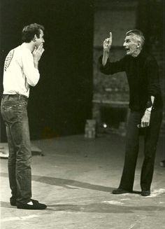 Samuel Beckett directing Endgame Samuel Beckett, Endgame Beckett, Actor Studio, Photo Portrait, Writers And Poets, Portraits, Book Writer, Playwright, Famous Faces