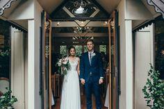 Bride and groom #boho #whimsical #chapel #tatrareceptions