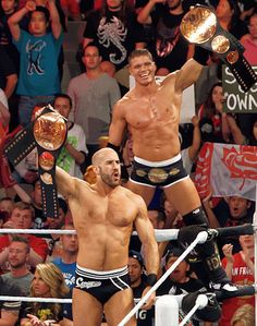 Cesaro and Tyson Kidd as WWE Tag Team Champions