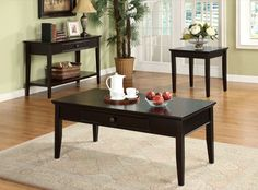 Furniture Of America Larsin Single Drawer Sofa Table Cherry